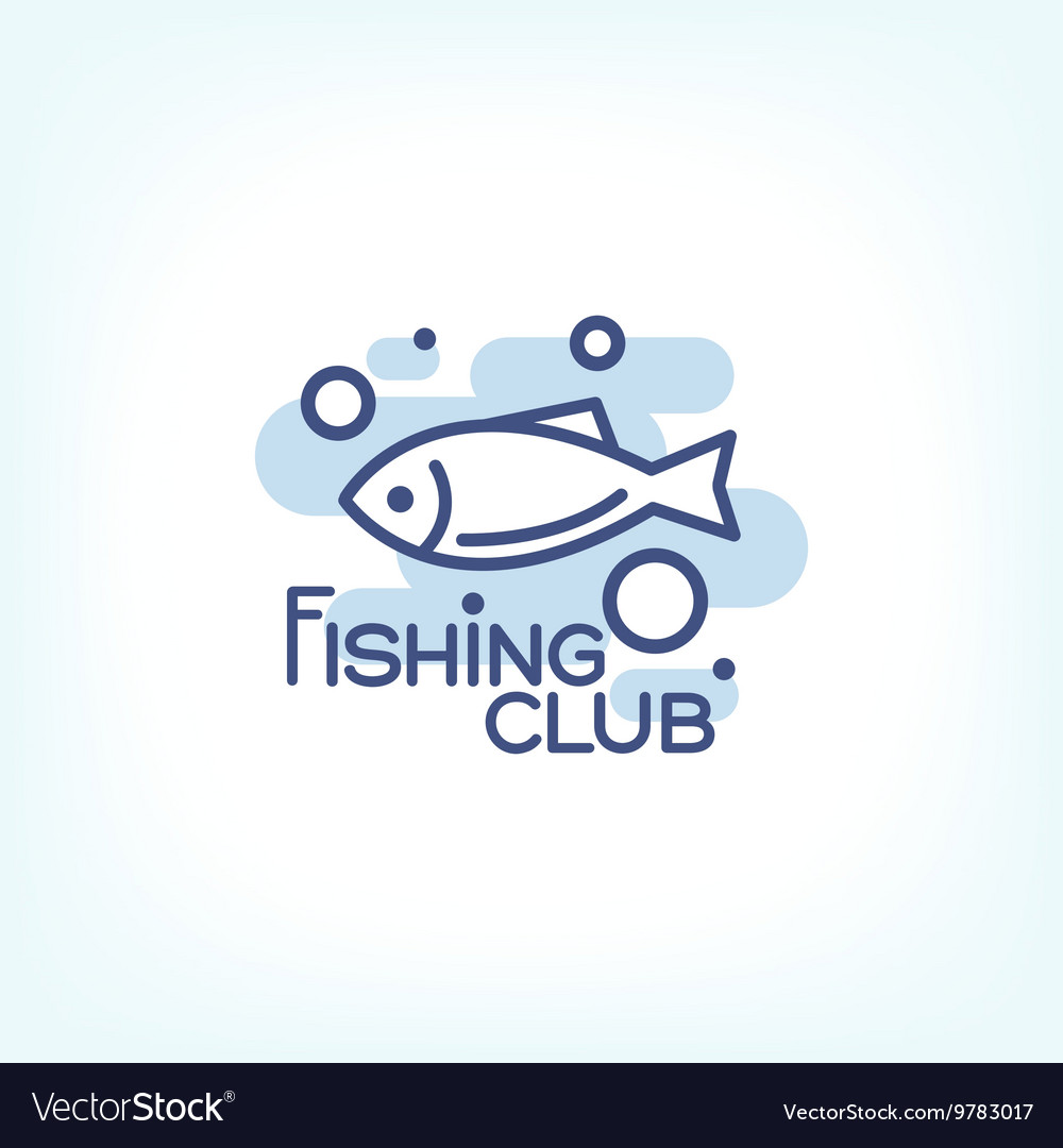 Fish point logo or badge template