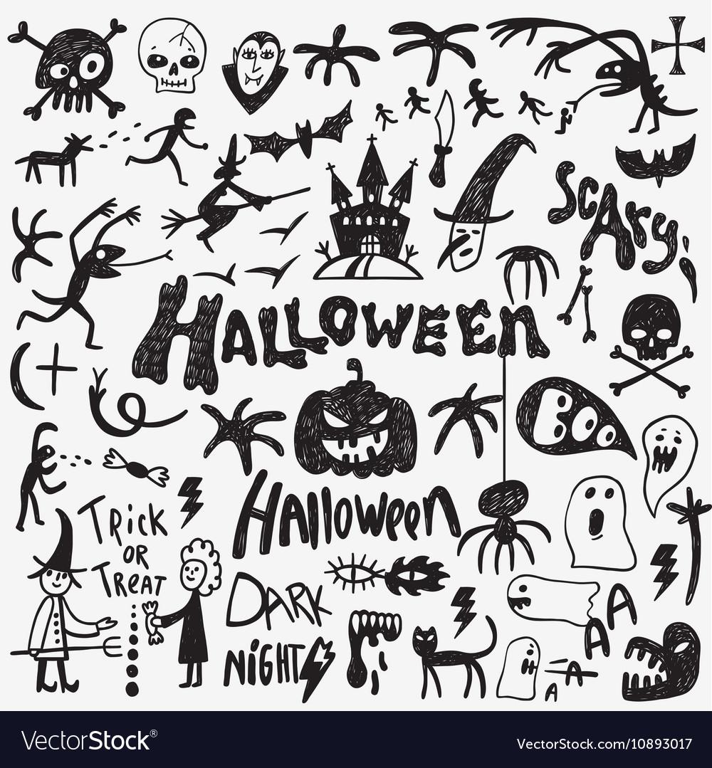 Halloween monsters doodles