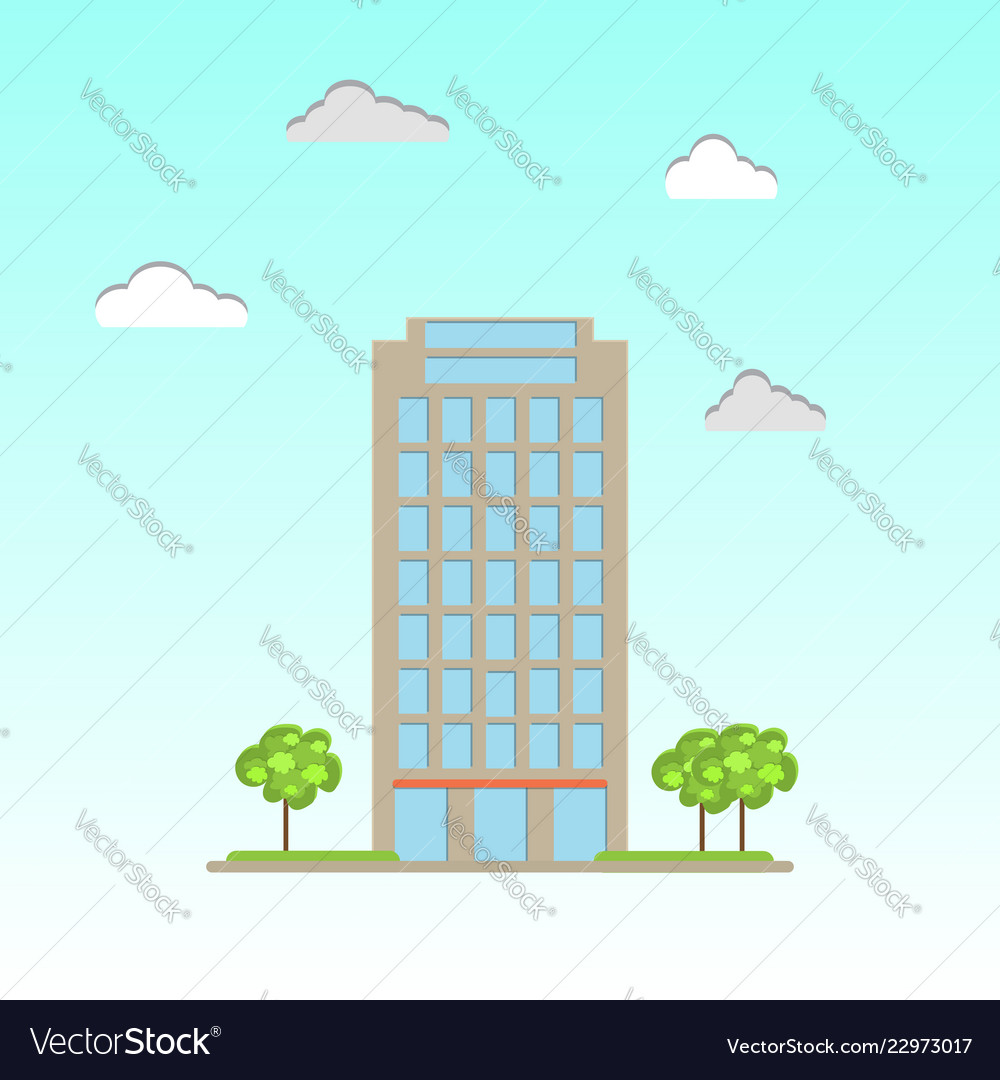 Modern commercial office building