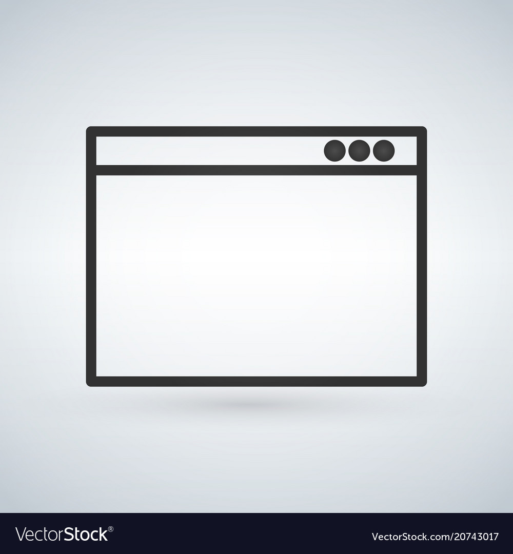 Simple browser window on modern background flat