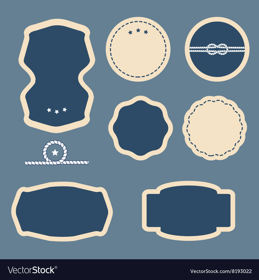 Blank frame and label vector image