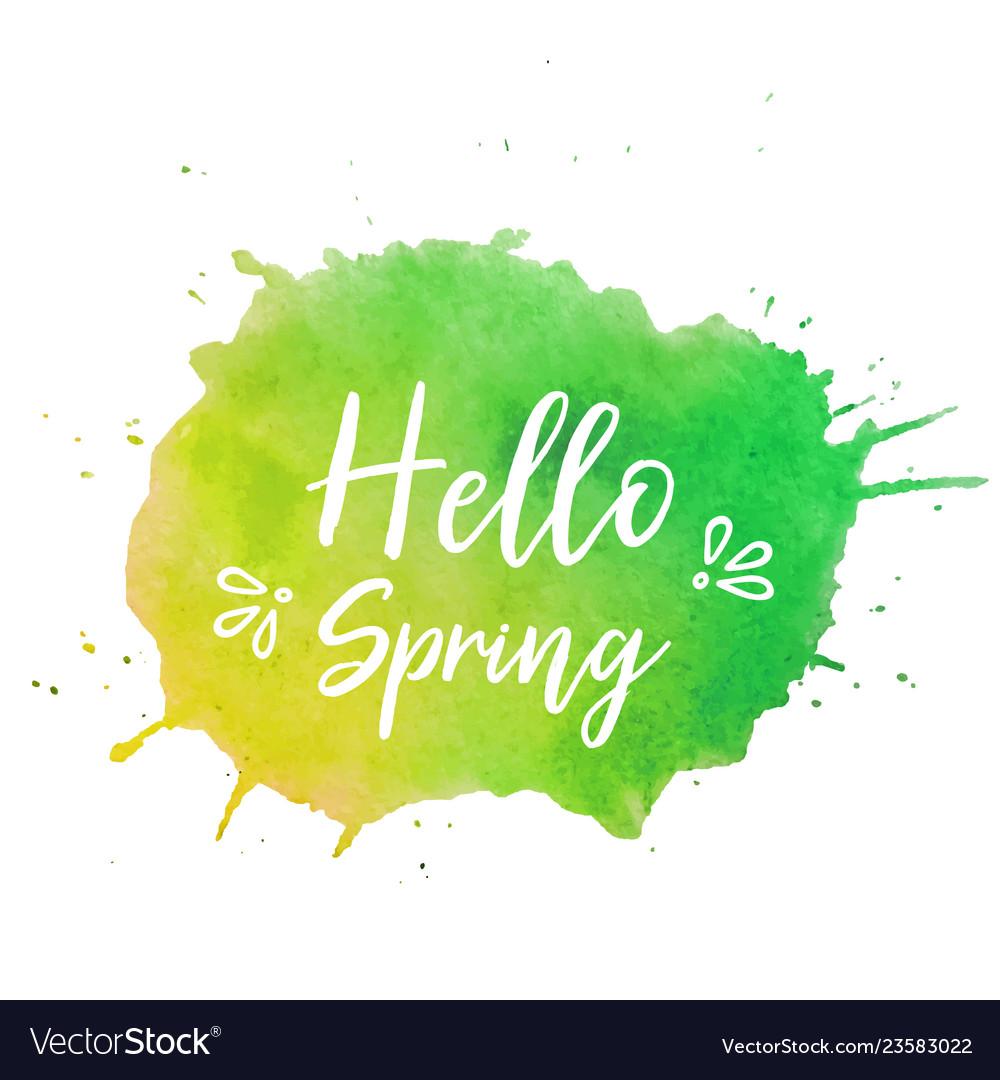 Hello spring text plate hello spring text
