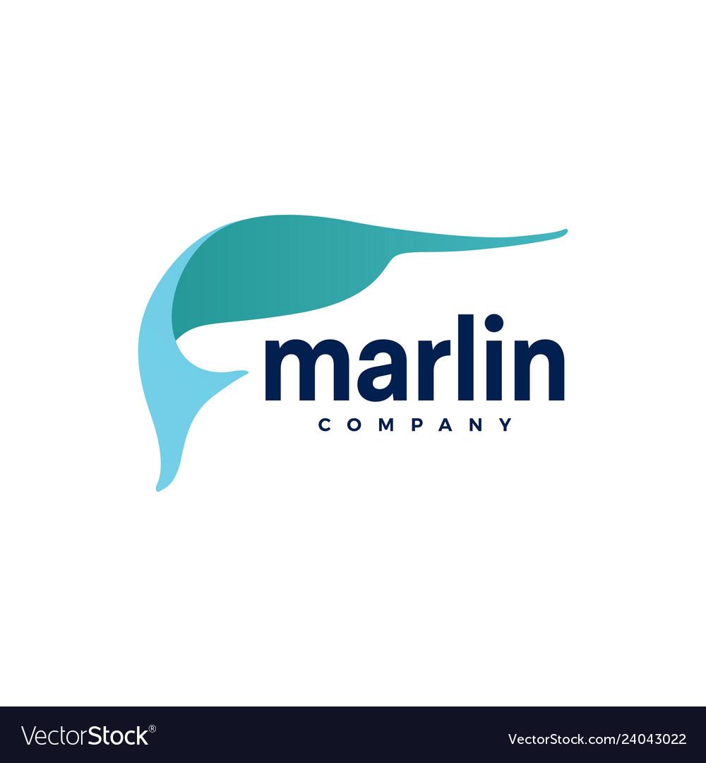 Marlin fish logo icon