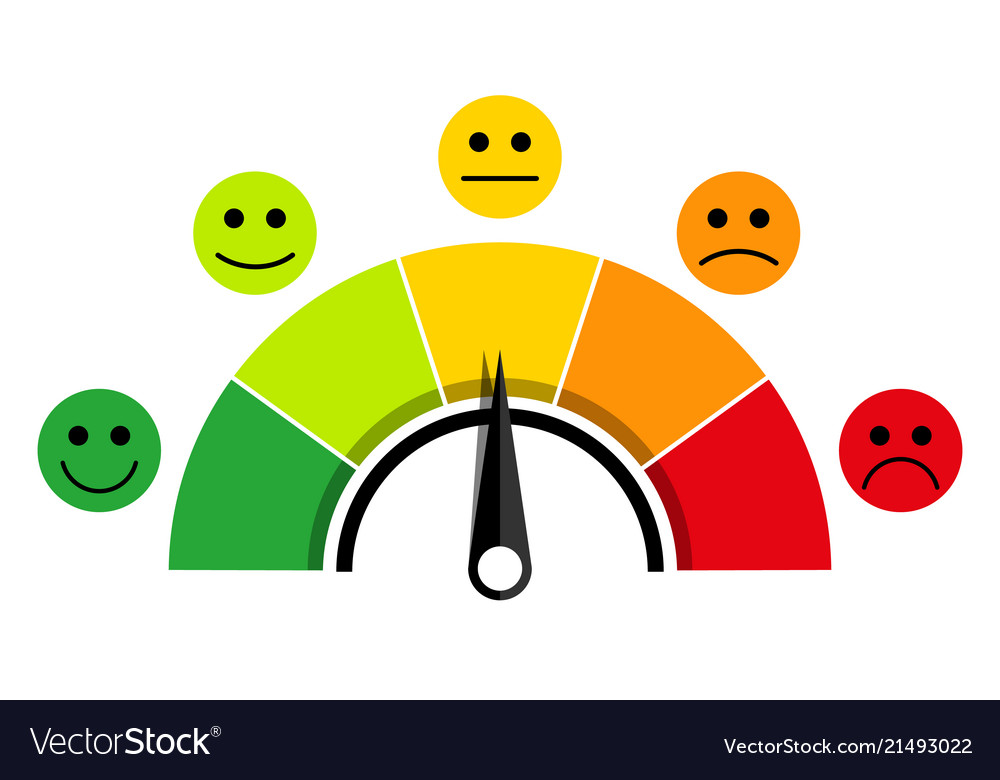 scale of customer satisfaction royalty free vector image