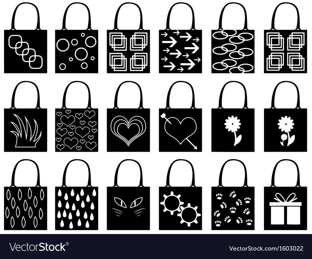 Shopping bag silhouette vector image