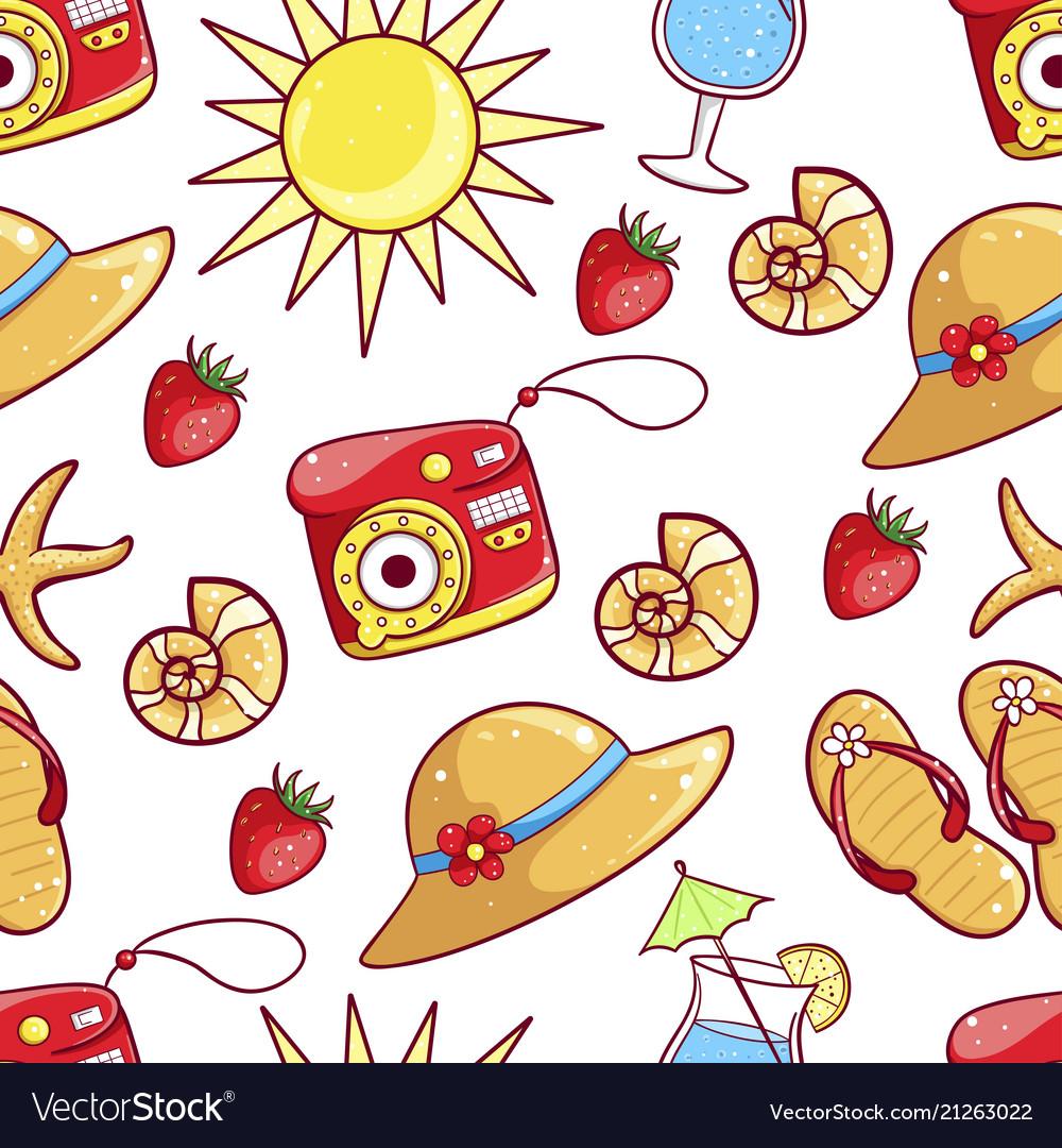 Summer hand drawn pattern