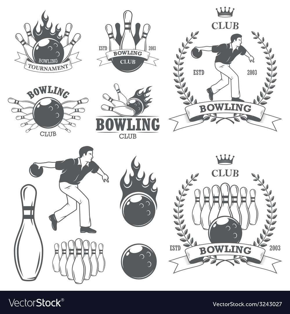 Bowling 2 vector image
