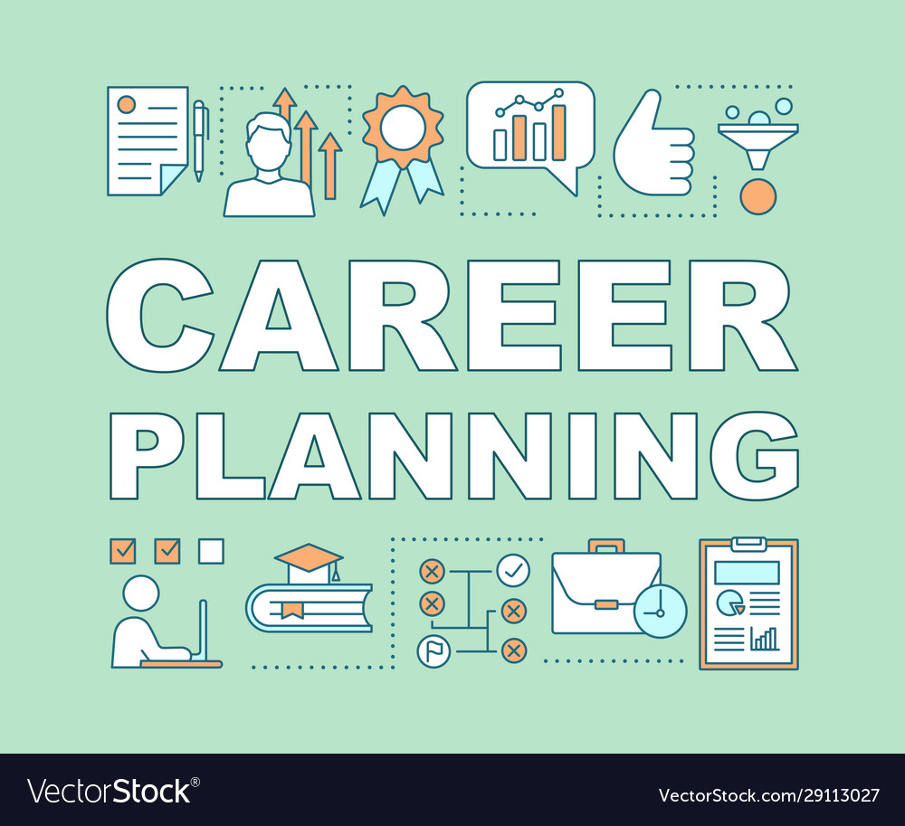 Career Planning Word Concepts Banner Royalty Free Vector