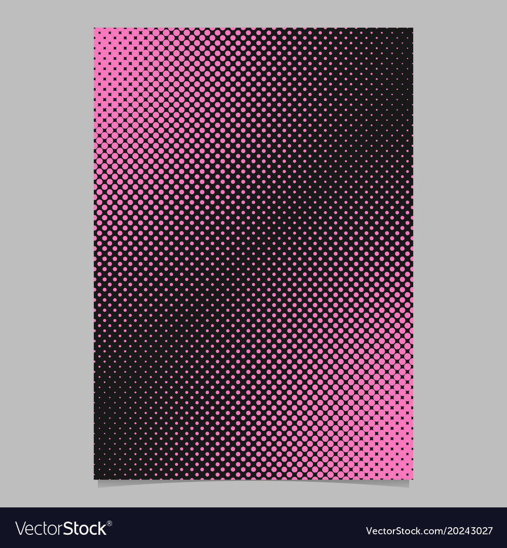 Color halftone dot pattern flyer template