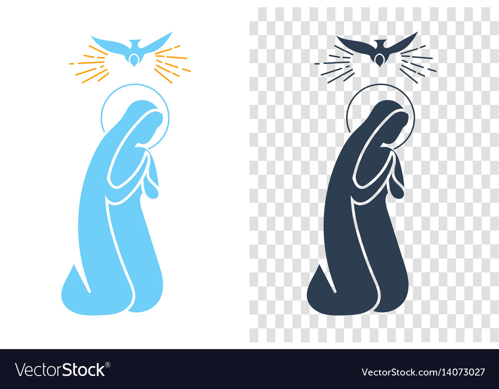 Icon annunciation virgin mary vector image