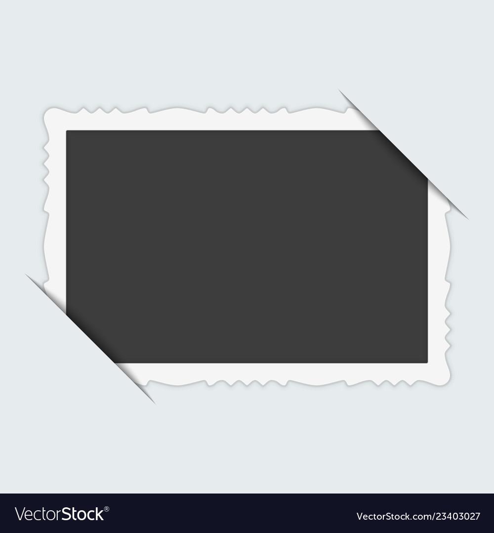 Photo frame with cut corner