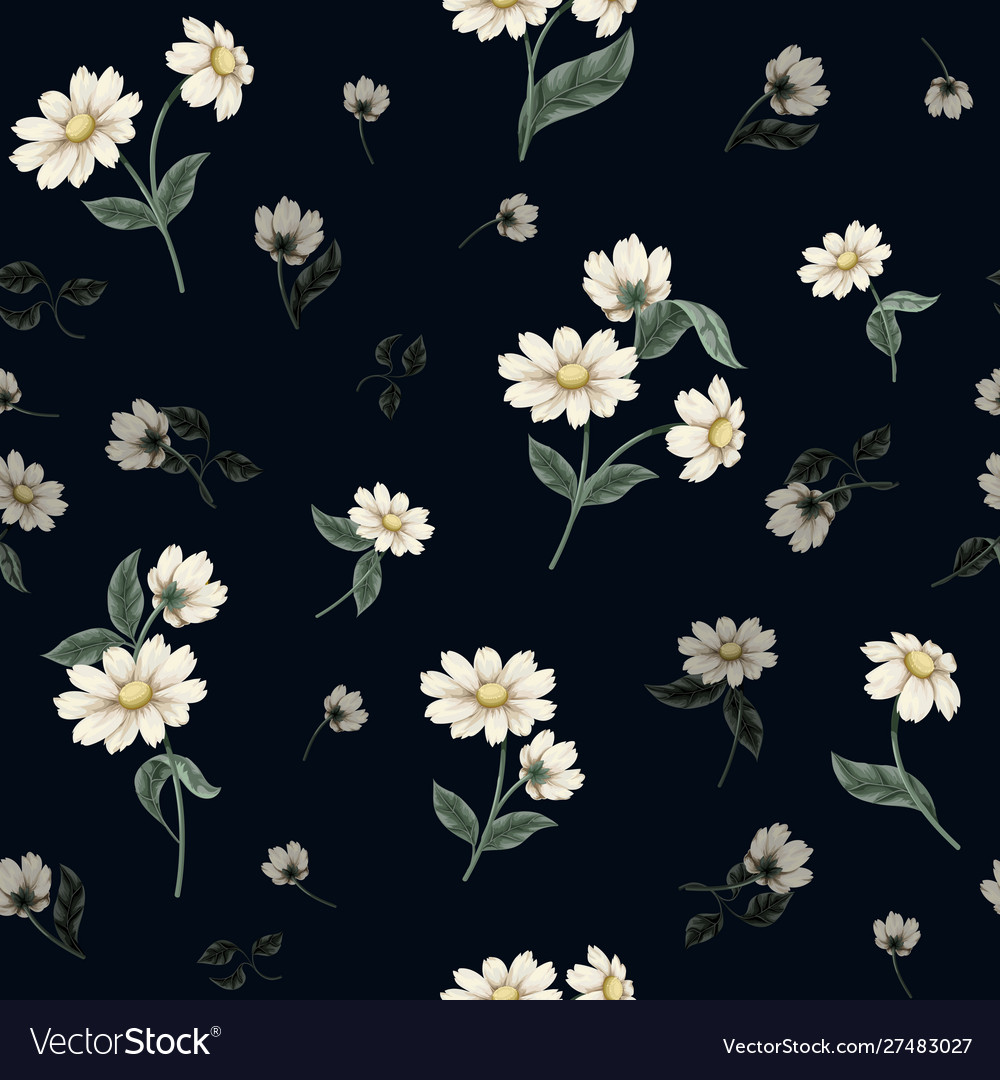 Seamless floral pattern with ditsy flowers
