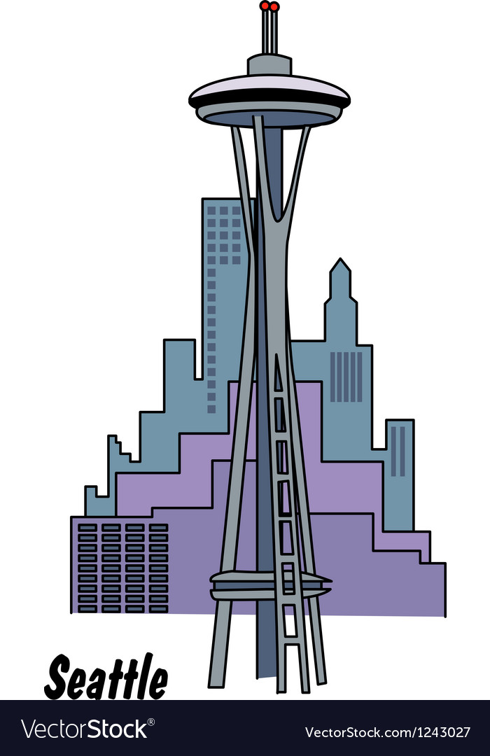 Seattle Washington vector image