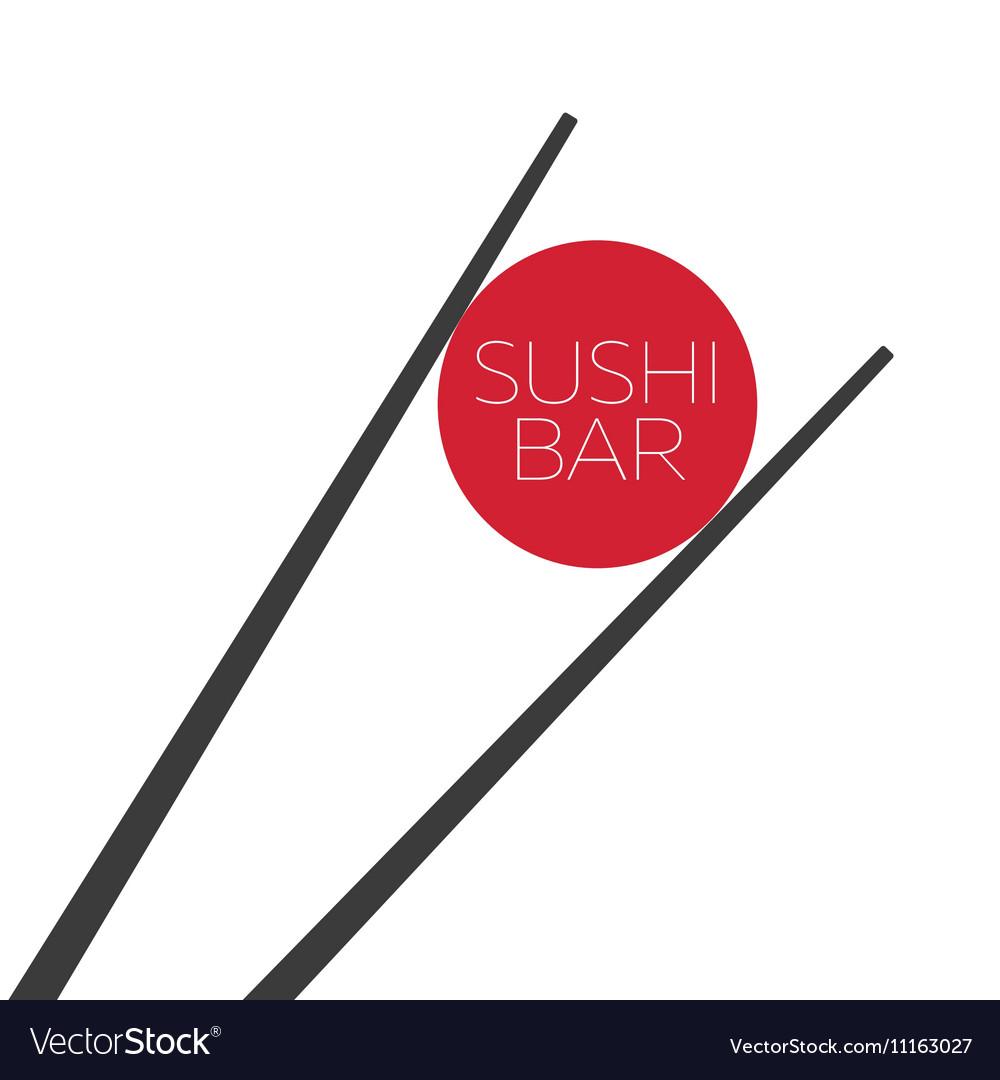 Sushi bar food logo template