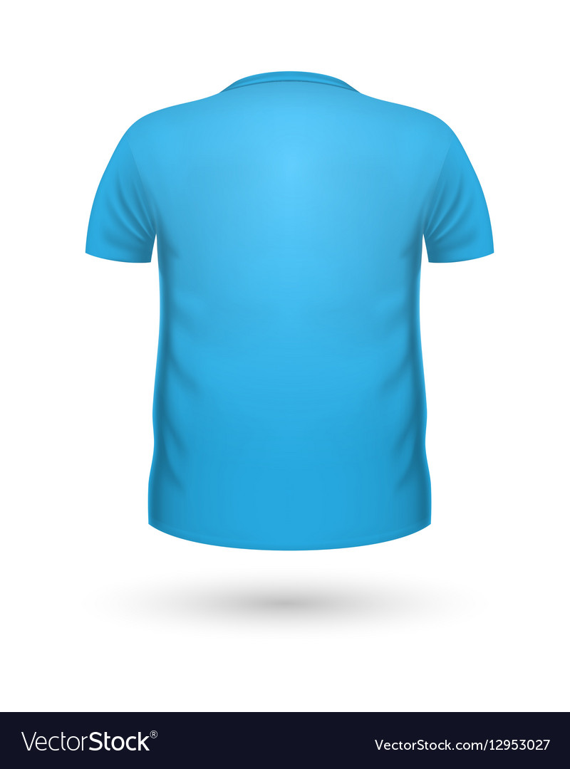 T Shirt Teplate Back View Royalty Free Vector Image