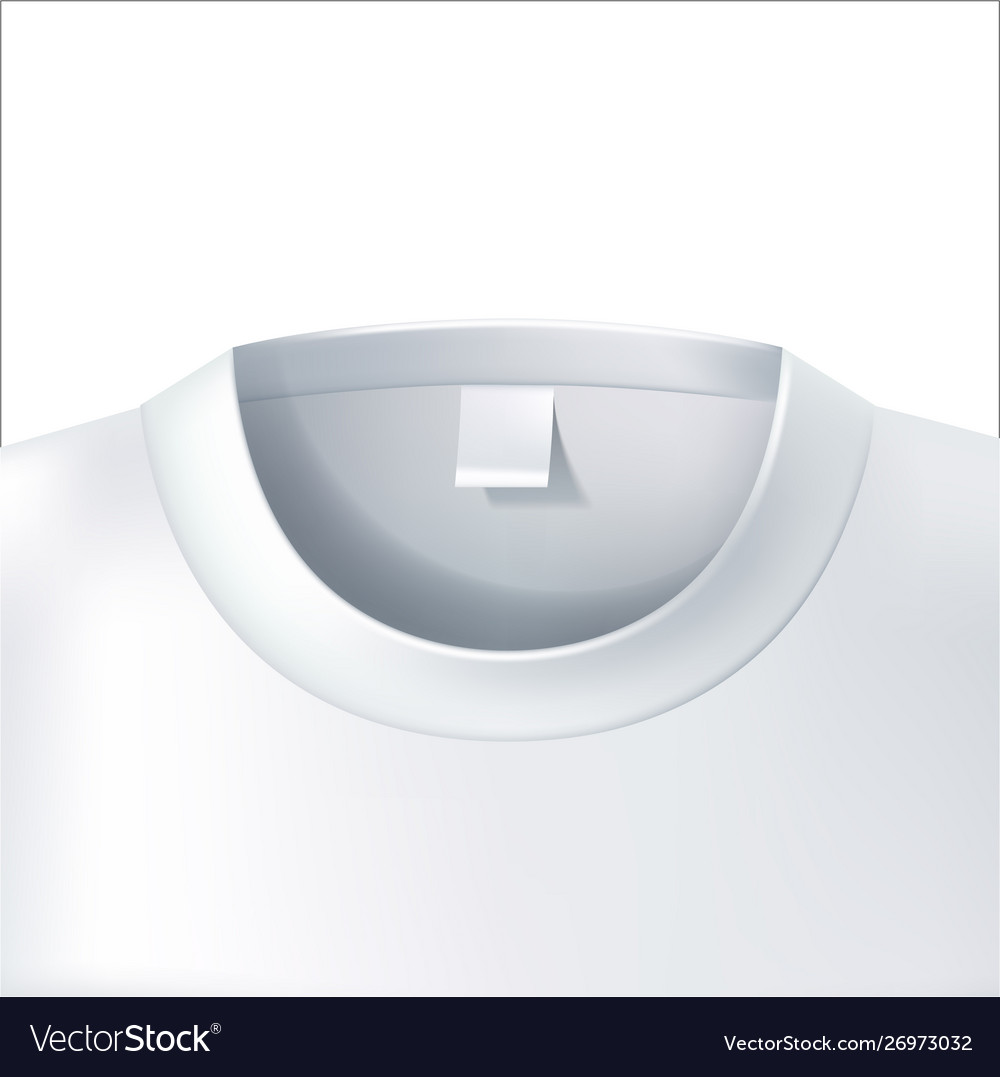 3d t shirt collar closeup white mockup