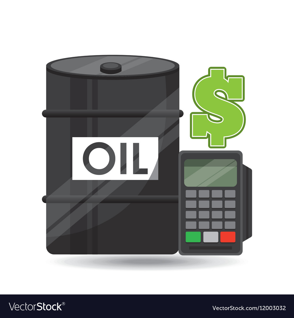 Barrel oil concept calculator planning money