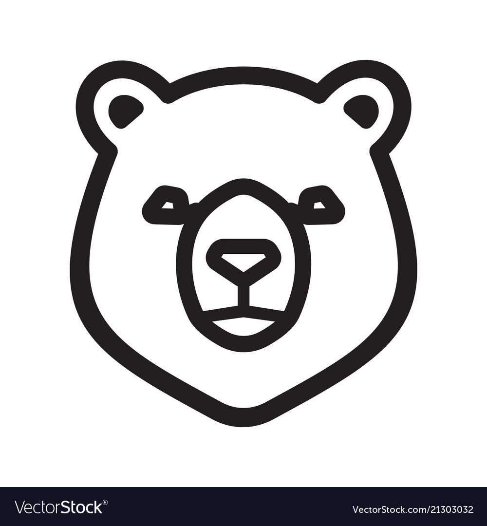 bear icon royalty free vector image vectorstock vectorstock