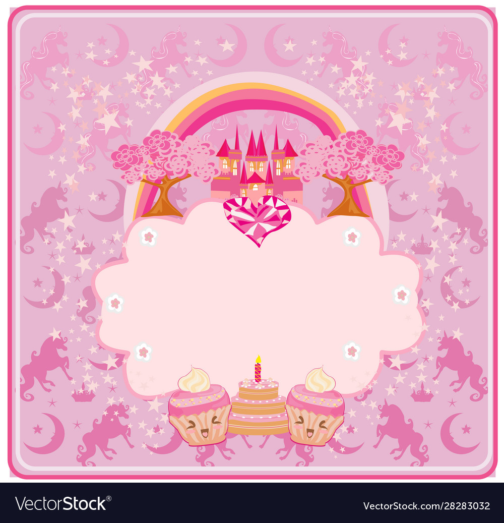 Fabulous Birthday Card With Birthday Cake Muffins And Vector Image Funny Birthday Cards Online Eattedamsfinfo