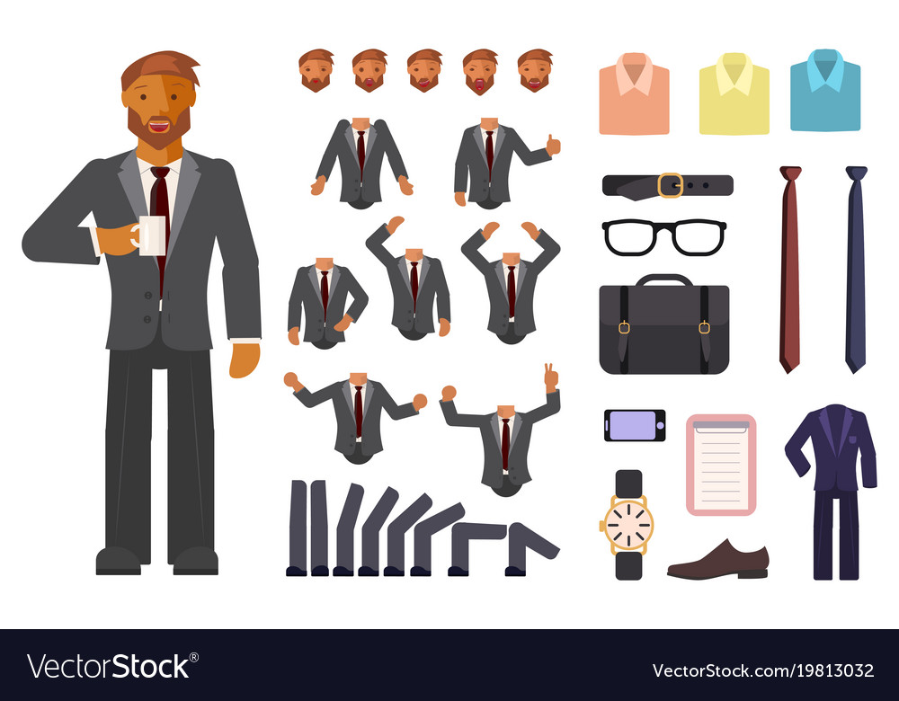 Businessman character creation