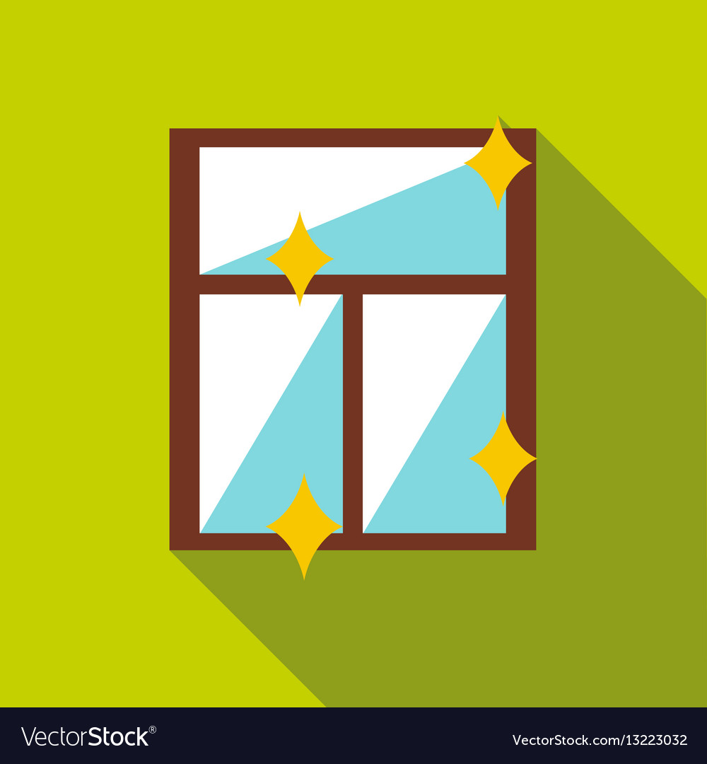 Clean window icon flat style vector image