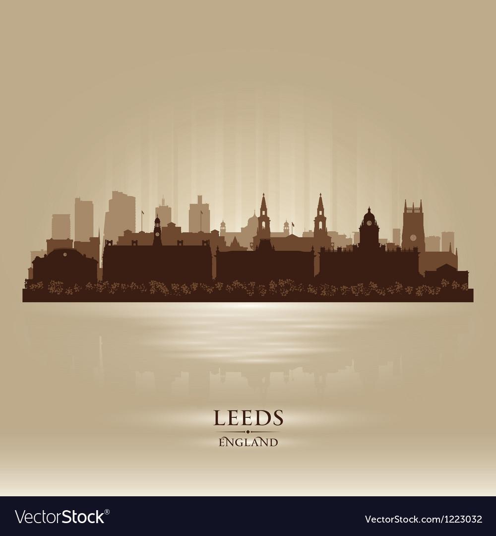 Leeds England skyline city silhouette vector image