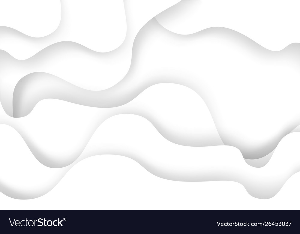 Abstract white curve paper cut overlap 3d