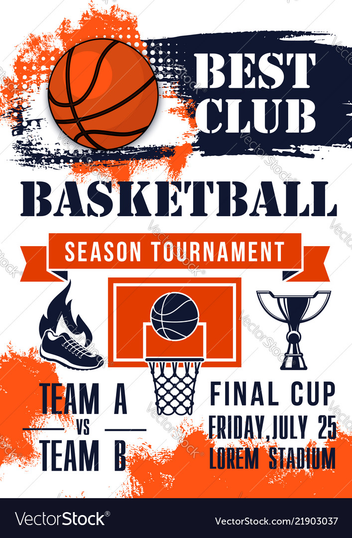 Basketball game tournament match banner