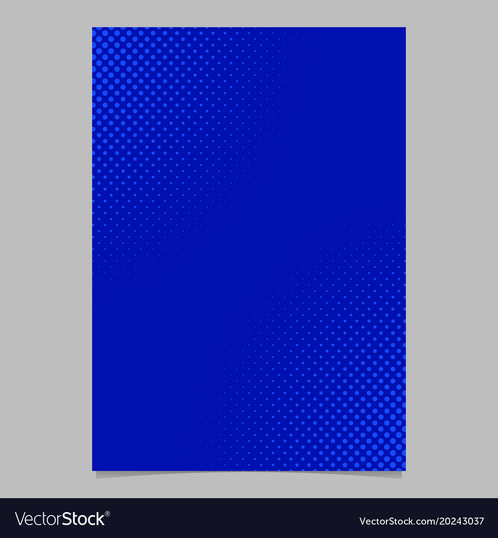 Blue halftone dot pattern flyer template vector image