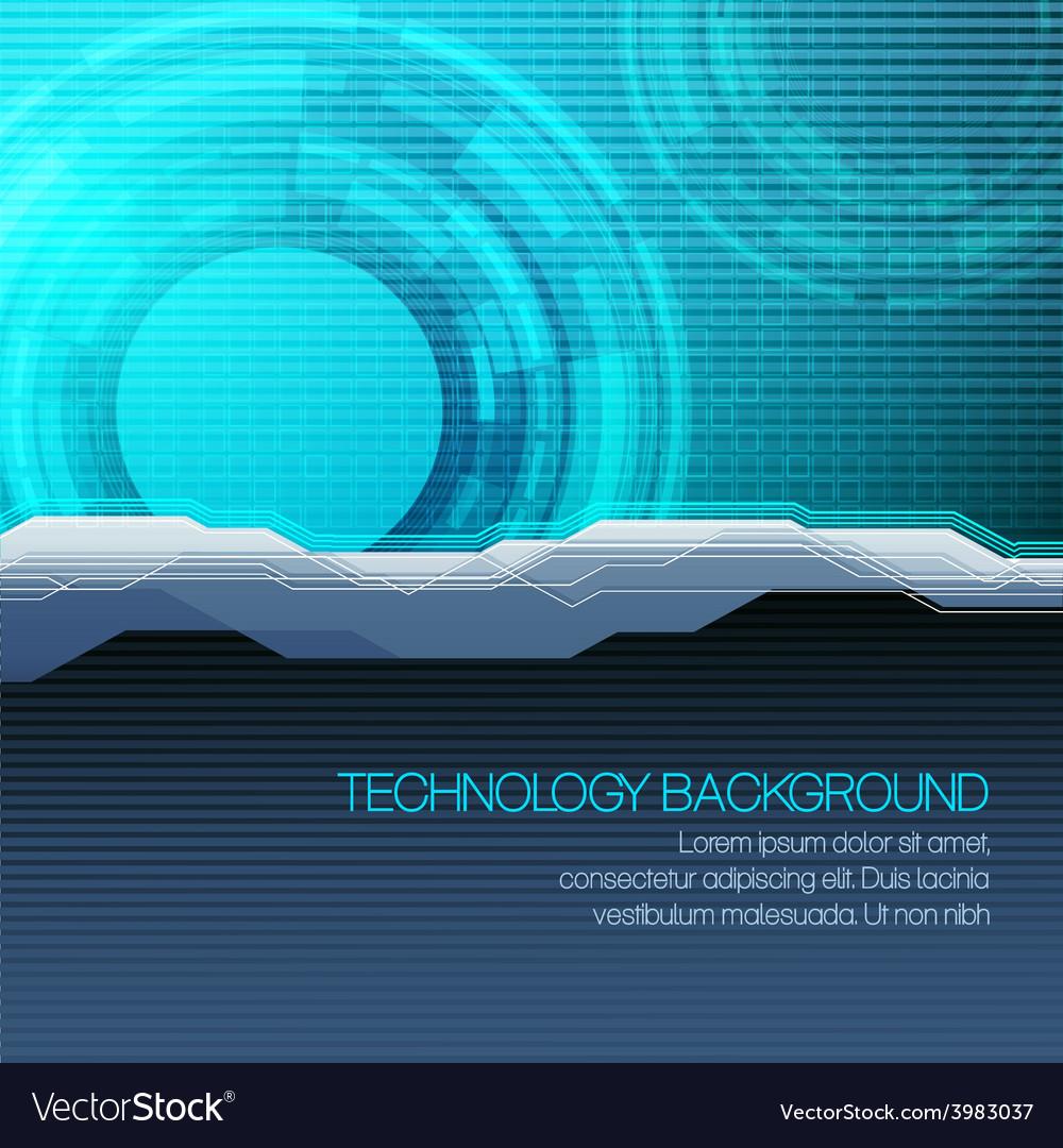 Futuristic technical background
