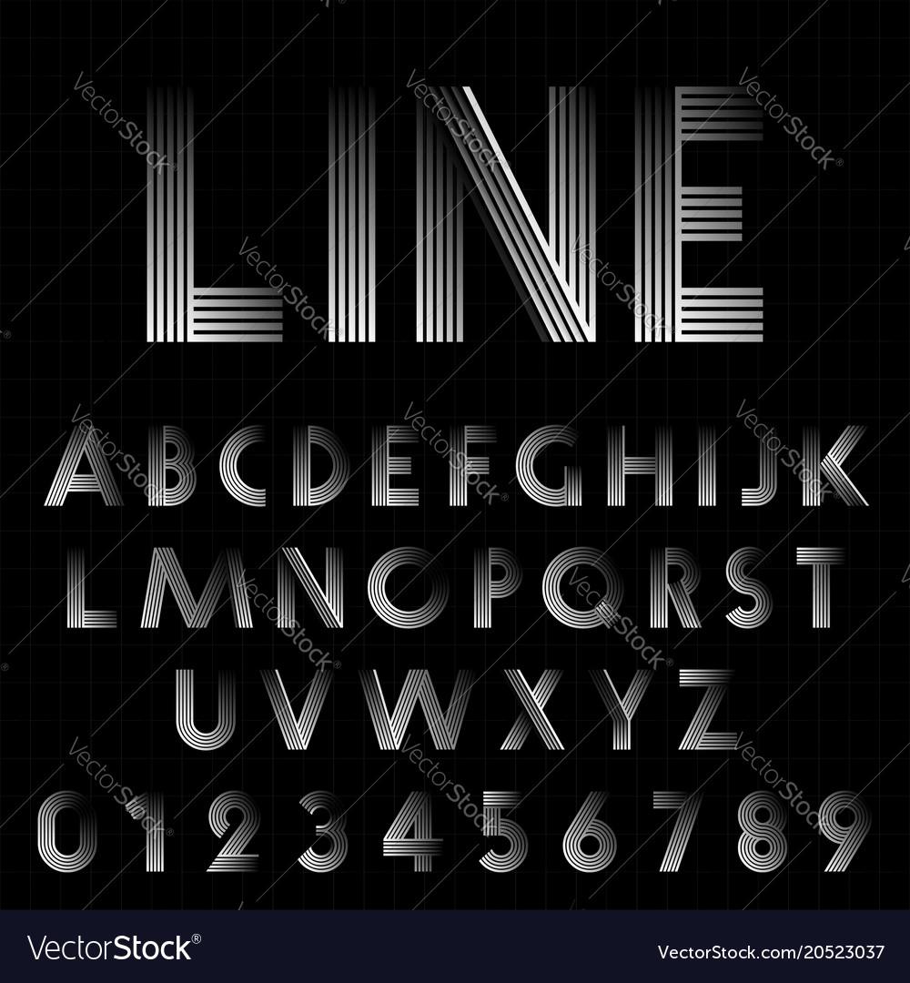 Line design font template