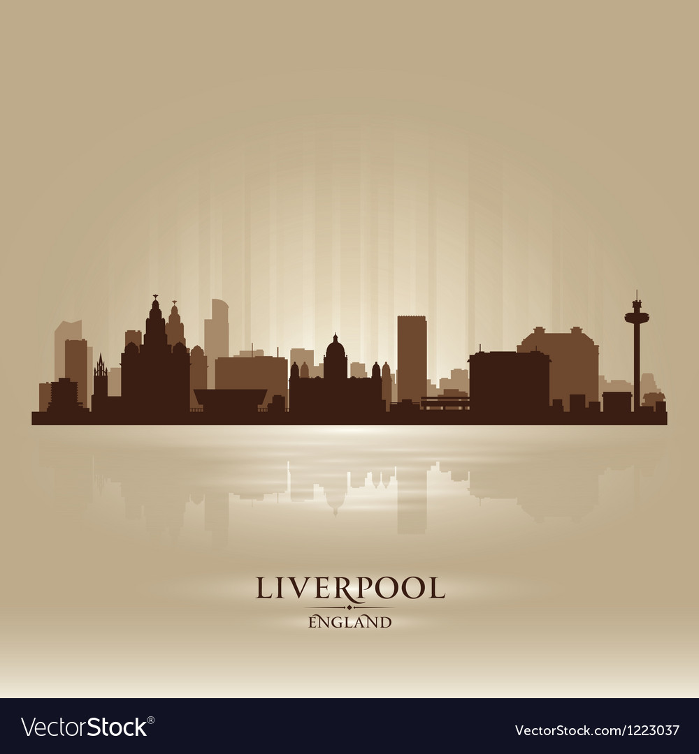 Liverpool England skyline city silhouette vector image
