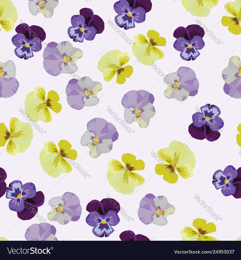 Multicolor anemone flowers seamless pattern