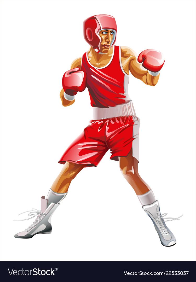 One caucasian man exercising boxing in silhouette