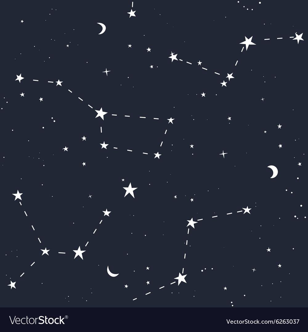 Space stars seamless pattern
