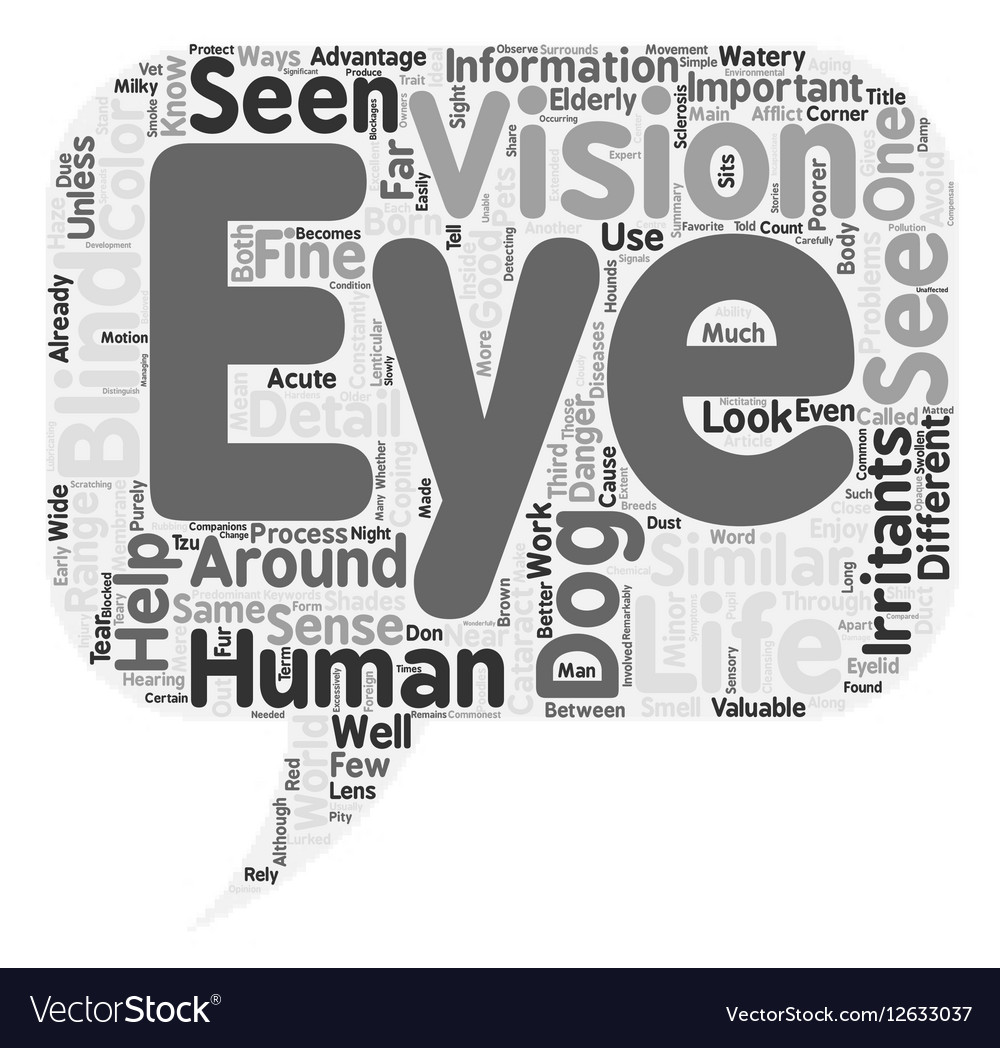 Through eyes your dog text background