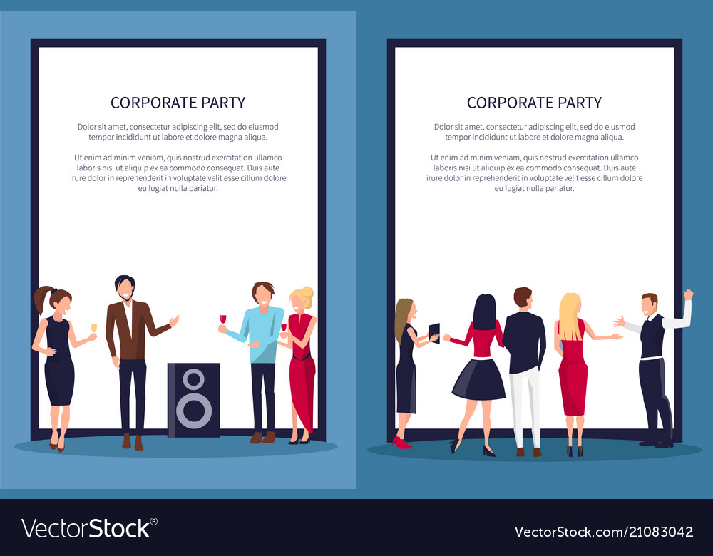 Corporate party at club on