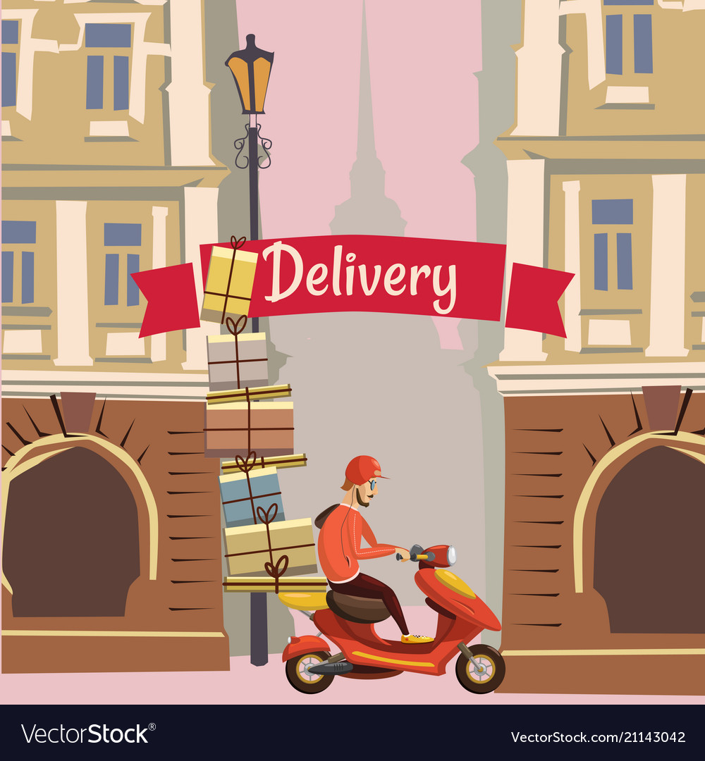 Delivery pizza food banner