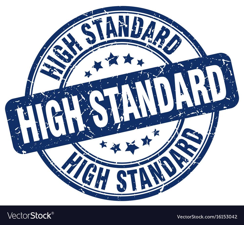 High standard stamp vector image on VectorStock
