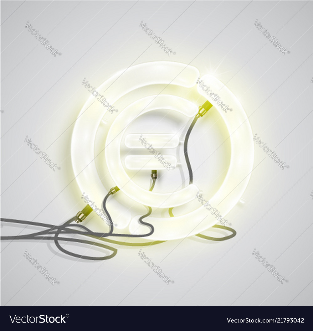 Realistic neon money sign