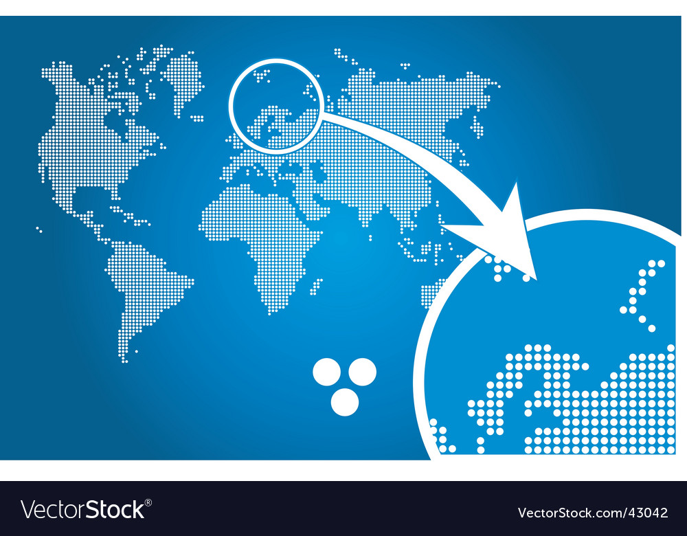 Stylish world map circle vector