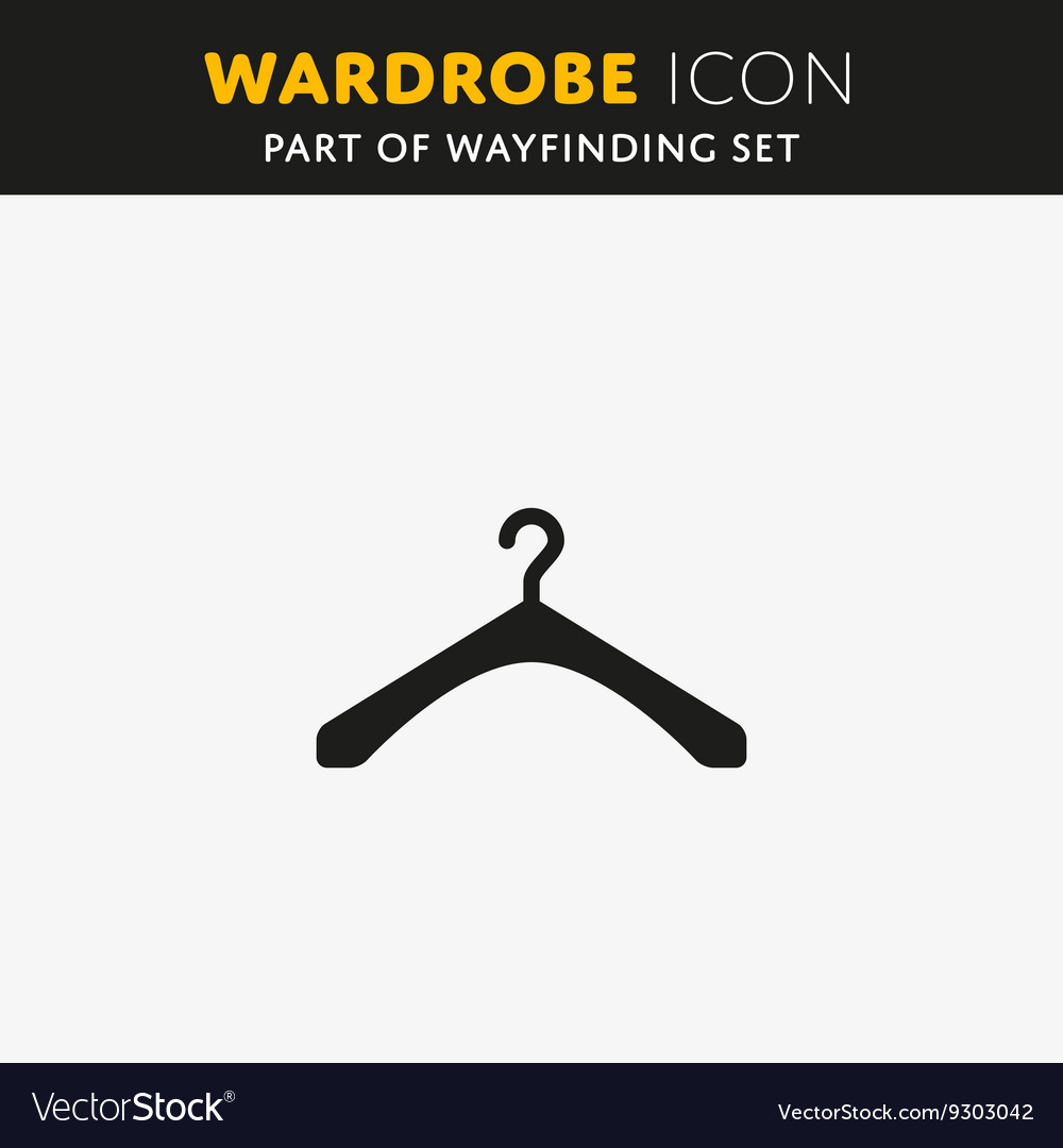 The hanger icon Coat rack symbol vector image