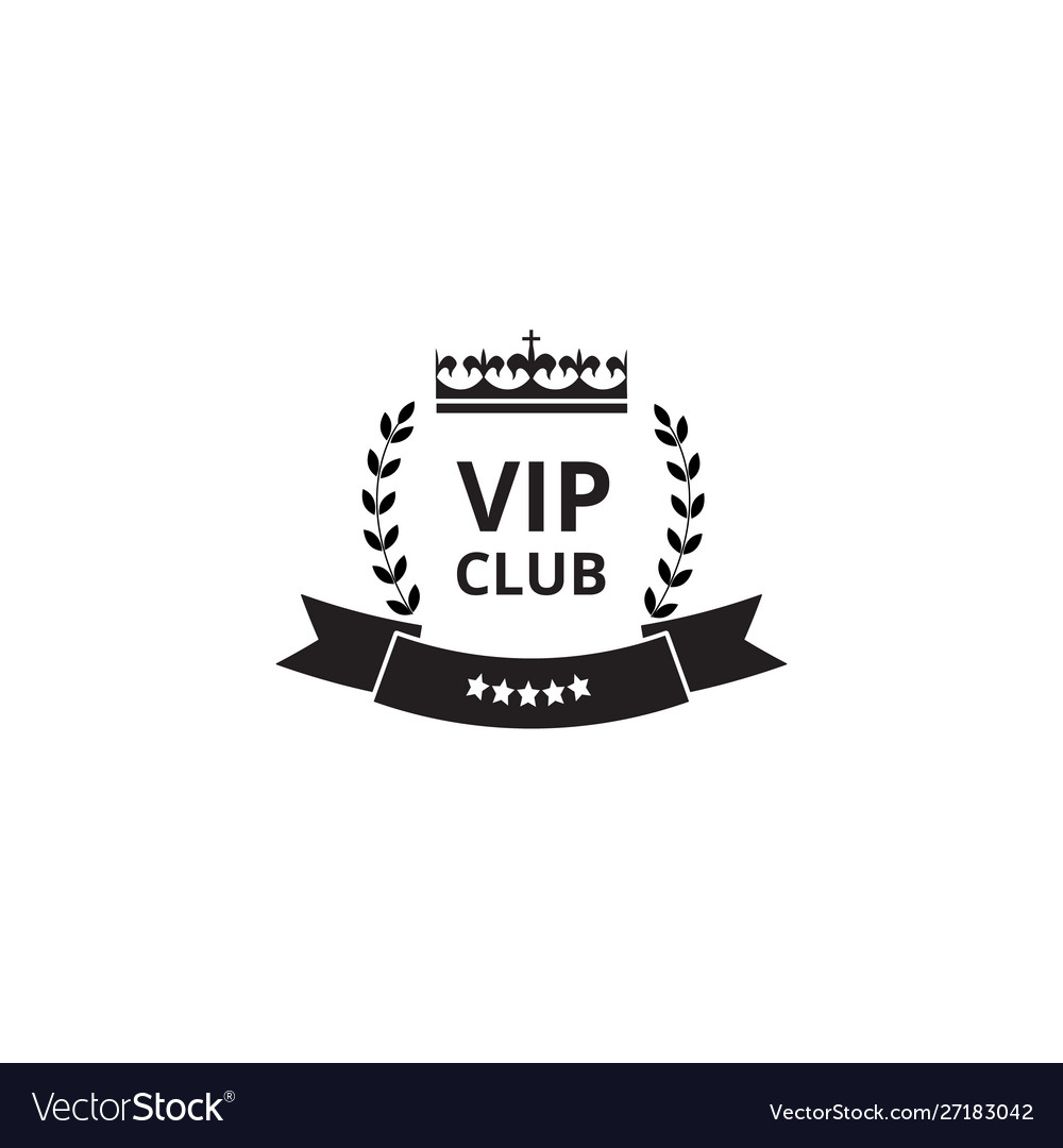 Vip club badge and royal label with luxury king
