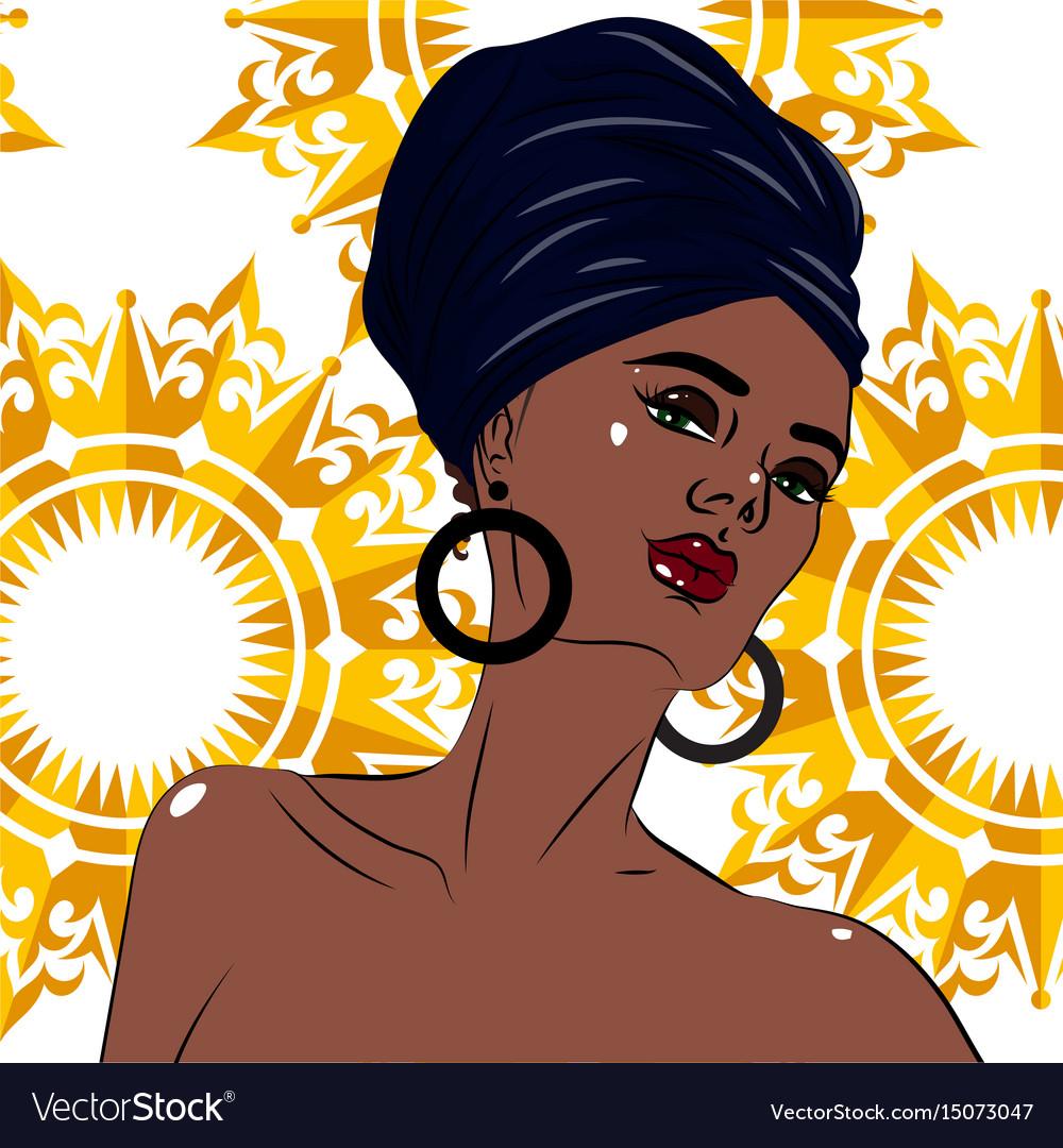 African american black beauty woman portrait