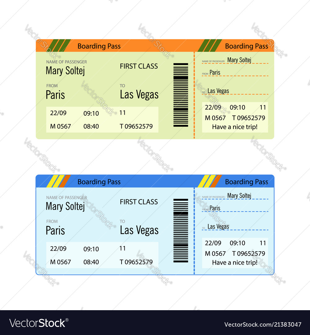 Airline boarding pass ticket for traveling