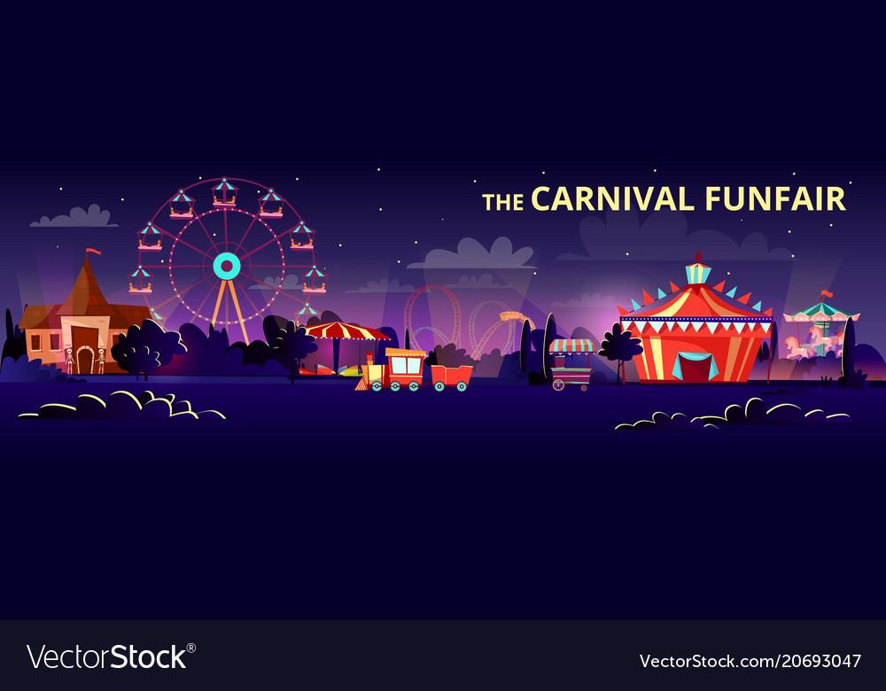 Amusement park cartoon of
