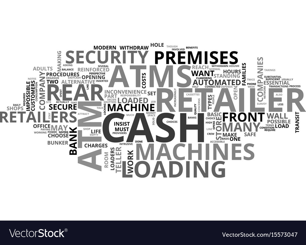 Atms how does the retailer decide text word cloud