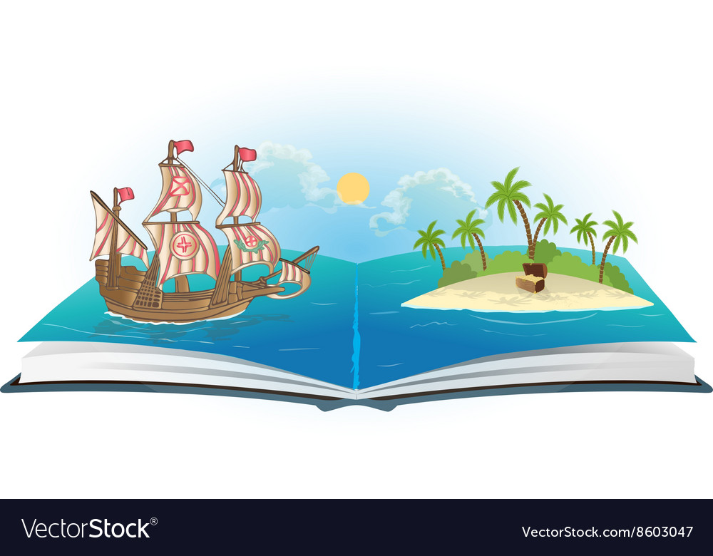 Book about ship and treasure island