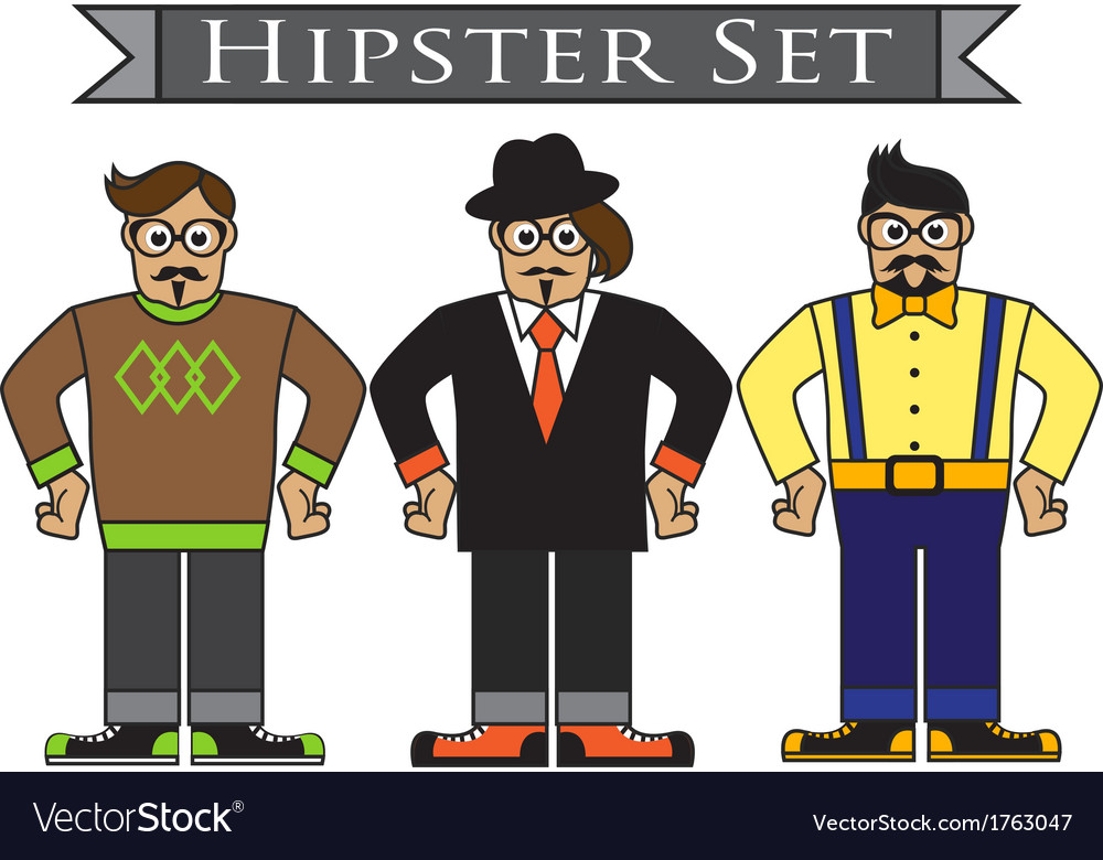 Cartoon hipsters vector image