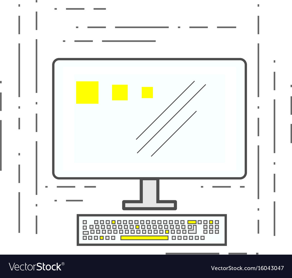 Computer icon in the style of the lines of the